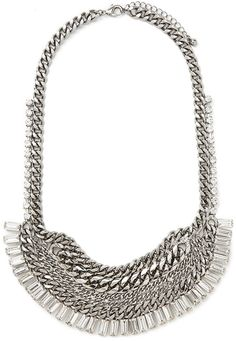 This heavyweight statement necklace is the perfect compliment to a simple black choker.