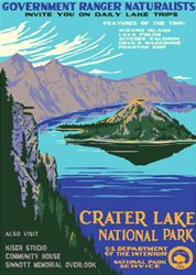 Crater Lake National Park Vintage Poster (Ranger Naturalist Service Series) in the Discover Your Northwest Online Store