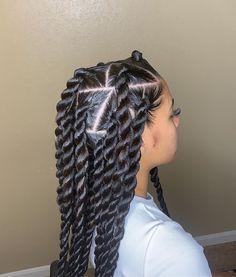 Black Girl Braided Hairstyles, Twist Braid Hairstyles, African Braids Hairstyles, Baddie Hairstyles, Girl Hairstyles, Two Braids Hairstyle Black Women, School Hairstyles, Formal Hairstyles, Weave Hairstyles