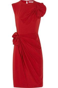 Diane von Furstenberg|Agata stretch-poplin dress|NET-A-PORTER.COM - StyleSays