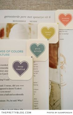 Heart It Bookmarks – Free Printable