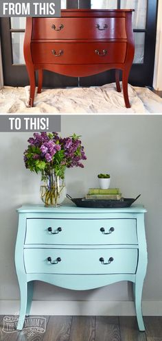 Charmant How To Paint A Piece Of Furniture In Under 3 Hours With DIY Chalk Style  Paint