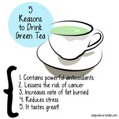 5 Reasons to Drink Green Tea.