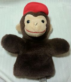 Curious George Stuffed Plush Hand Puppet Gund 10 Inches Monkey Toy Library PBS #GUND Curious George, Kids Tv, Hand Puppets, Movie Characters, Monkey, Christmas Ideas, Plush, Teddy Bear, Toys