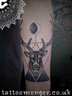 London Tattoo: Stag head by David Barclay