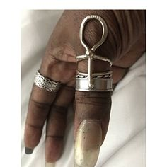 NEW & IMPROVED Ankh Ring Sterling Silver Afrocentric Jewelry | Etsy
