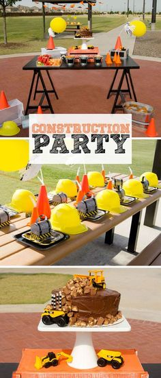 Celebrate your builder with a DIY Construction Party with these fun construction party ideas. Complete with favors, a construction cake and games. Construction Birthday Parties, Construction Party, Boy Birthday Parties, 2nd Birthday, Birthday Ideas, Birthday Cakes, Birthday Banners, Kid Parties, Theme Parties