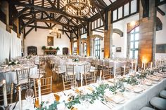 Reception in The Country Club of Detroit's Great Hall. | Over The Moon #OTMWeddings