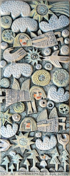 CERAMIC RELIEF - SKY AT CHRISTMAS - HILKE MACINTYRE
