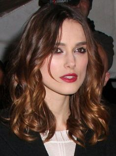 curly shoulder length hair kiera knightley. transition to short curly bob from long hair. at least thats the plan.......