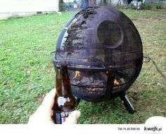 death star grill... yes please. the propane tube is a small exhaust port lol