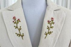 6264e4dad3d Ručně vyšívané manžestrové sako vel. 36 38   Zboží prodejce Ateliér  Františka