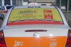#HOTELFORMULE1 - #VITORIA - #CARTAXI  A rede Accor está divulgando em 10 táxis o valor da diária do novo Hotel Formule 1 de Vitória. A campanha, veiculada nos vidros traseiros.
