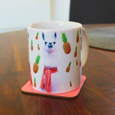 Pineapple Llamas Mug Cup 4M056E by Memeskins on Etsy https://www.etsy.com/listing/230454483/pineapple-llamas-mug-cup-4m056e