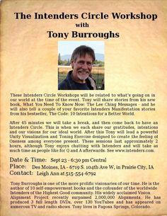 Meet Tony Burroughs -  Sept 23 - Des Moines, IA