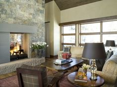 Fireplace & Fireplace Mantel Photos / Pictures, Decorating, Design & Decor Ideas for Fireplaces, Hearths, Mantels in the Home / House Fireplace Mantels, Fireplaces, Fireplace Ideas, Double Sided Fireplace, Living Room With Fireplace, Custom Homes, Living Spaces, Living Rooms, Vancouver