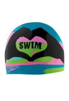 I Heart Swim Silicone Cap - Swim Caps - Speedo USA Swimwear