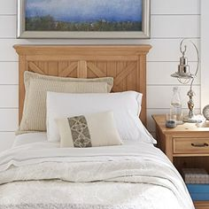 Home Styles 5524-4015 Country Lodge Headboard and Night Stand, twin