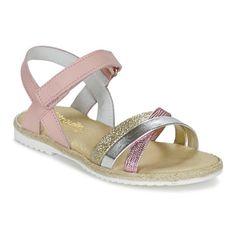 Zapatos Niña Sandalias Citrouille et Compagnie GIRAFFON Rosa / Plata Toddler Shoes, Kid Shoes, Girls Shoes, Baby Shoes, Kids Sandals, Shoes Sandals, Shoe Template, Shoe Collection, Converse