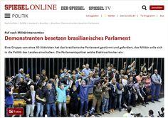 A ocupação na Câmara dos Deputados ocorrida nessa quarta-feira repercutiu na imprensa internacional.Até mesmo a revista alemã de orientação esquerdista Der Spiegelnoticiou o fato em sua edição on…