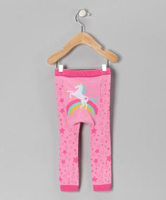 Take a look at this Pink Rainbow Unicorn Leggings by Doodle Pants on #zulily today!