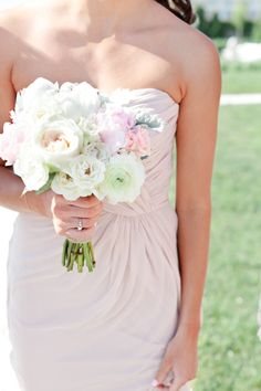 Pink Bridesmaids Dress & Light Coloured Bouquet | photography by http://www.erinmcginn.com/