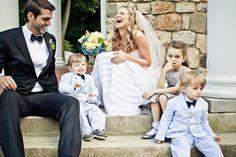 Adorable wedding photo of the happy couple and kids by JAG Studios | via junebugweddings.com