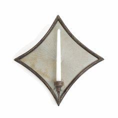 http://beautifulhomestore.com/10463.html  Diamond Mirrored Sconce  Item#: 10463