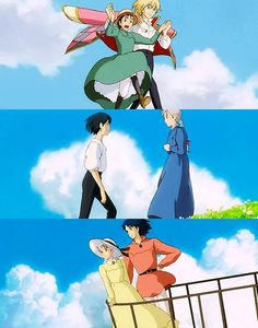 Scenes from Howl's Moving Castle