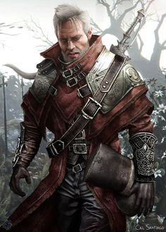 Dark fantasy character illustration commissioned by Nicholas O'Gorman. Fantasy Male, Dark Fantasy, Fantasy Armor, Medieval Fantasy, Fantasy Heroes, Fantasy Character Design, Character Creation, Character Concept, Character Art
