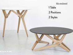 Круглый поворотный столик BOULON BLANC - Стол трансформер - Мебель-трансформер.РФ