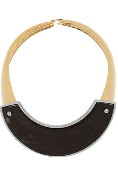 Marni | Gold-plated horn necklace | NET-A-PORTER.COM