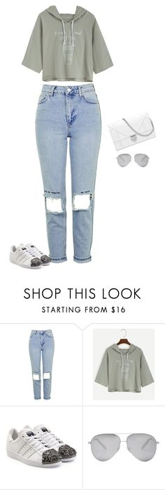 """Untitled #1937"" by quaybrooks on Polyvore featuring Topshop, adidas Originals and Victoria Beckham"