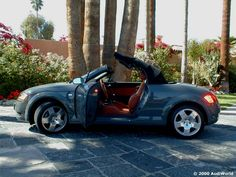 2001 Audi TT Roadster 180 FWD, Nimbus Grey w/Baseball Glove Seats.