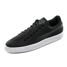 366f7f7d8bf 2018 Real PUMA Basket Classic evoKNIT Black White Unisex Skate Fashion Shoes