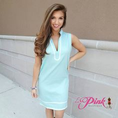 Shop for our Spa Blue Charleston Dress at La Pink Boutique in Tampa, FL!
