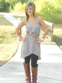 Black Leggings with Brown Boots | Bits of Splendor: Wore: Dreaming of FALL