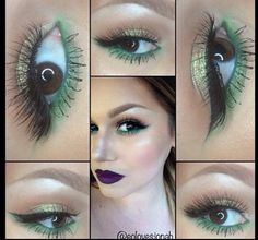 This look has a poison ivy look to it. I'm digging it.
