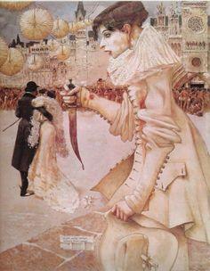 Pierrot s'en va - 1906 - Mossa, peintre symboliste niçois
