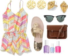 Summer romper and Jack rogers