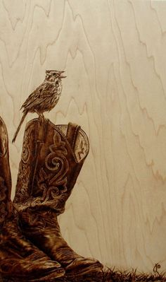 If It's Hip, It's Here (Archives): Burn Wood, Baby, Burn. The Incredible Pyrographic Art of Julie Bender.