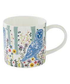 Loving this Woodland Owl Bone China Straight Mug on #zulily! #zulilyfinds