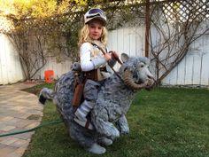 Home-made Hoth Luke + Tauntaun Halloween Costume