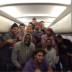 Trailblazer plane photo following victory in OKC