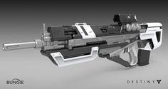 ArtStation - Destiny - House of Wolves - Pulse Rifle, Matt Lichy