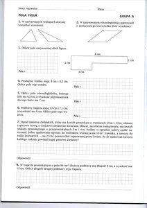 pola figur klasa 5 sprawdzian pdf matematyka z kluczem