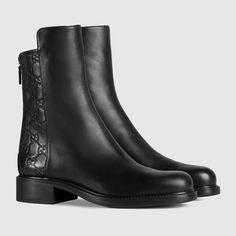 Gucci Women - Gucci Black Leather ankle boots - $895.00