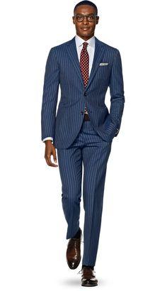 Suit Blue Stripe Havana P5171 | Suitsupply Online Store