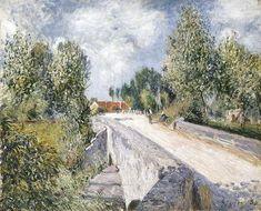 Bridge over the Orvanne near Moret - Alfred Sisley, 1883