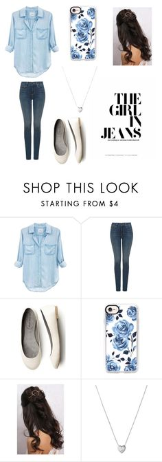 """""""Denim for Days💙"""" by olivera1124 ❤ liked on Polyvore featuring Rails, NYDJ, Casetify, Rare London and Links of London"""